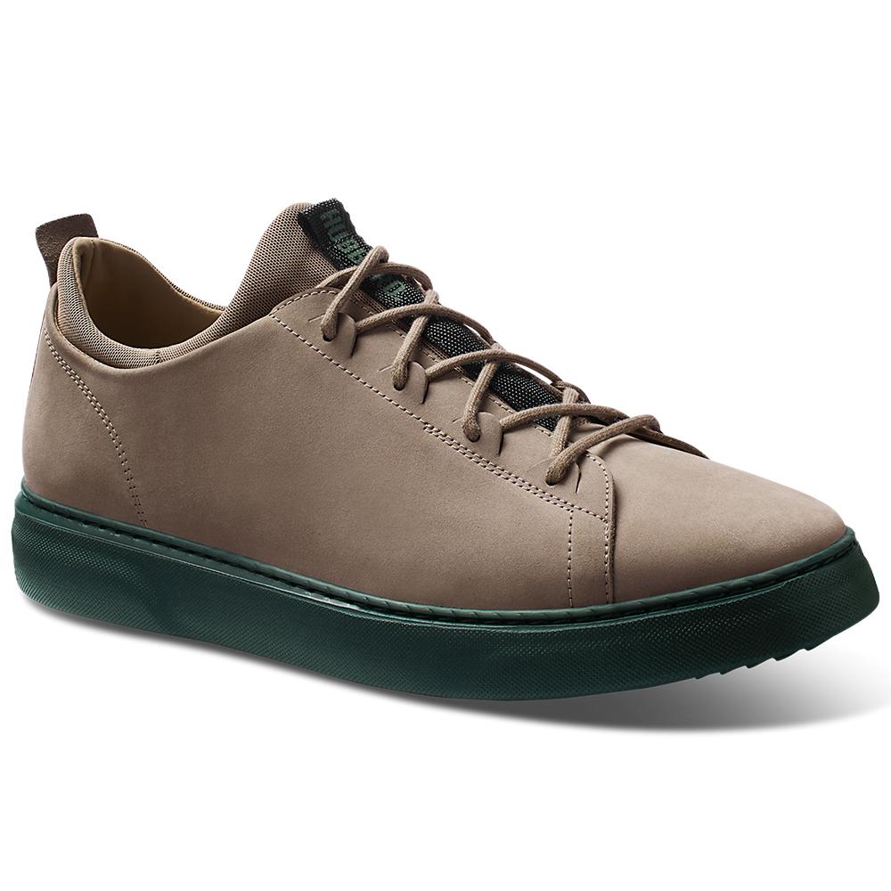 Samuel Hubbard Flight Nubuck Sneakers Taupe / Dark Green Image