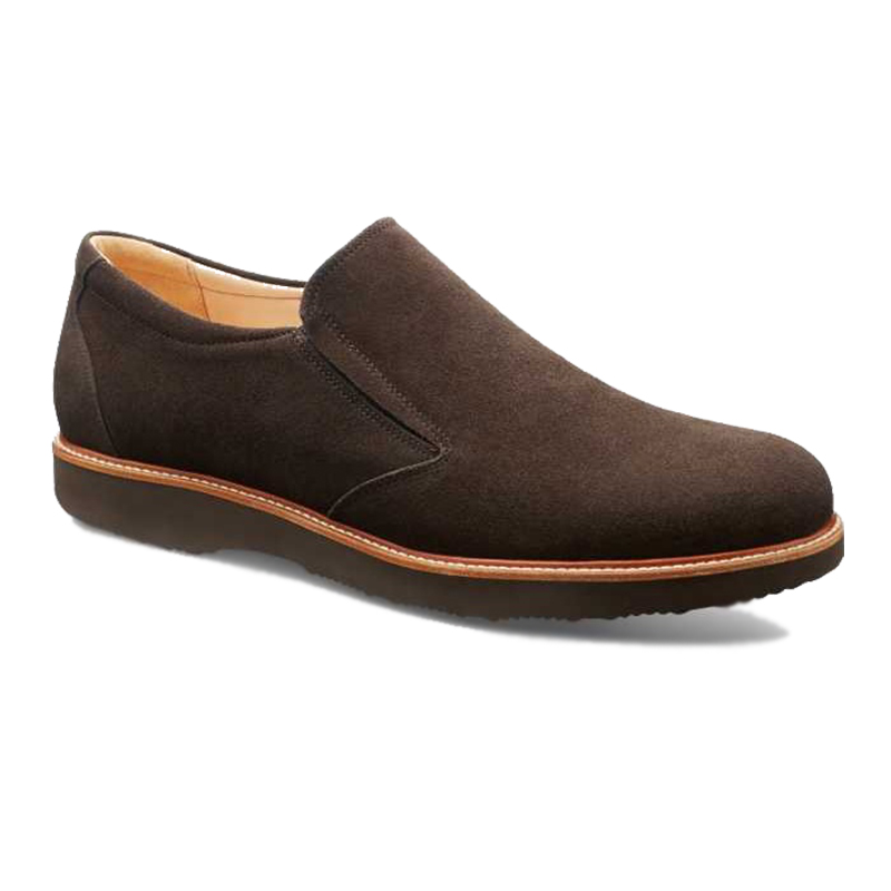 Samuel Hubbard Frequent Traveler Slip-on Oxford Dark Chocolate Image