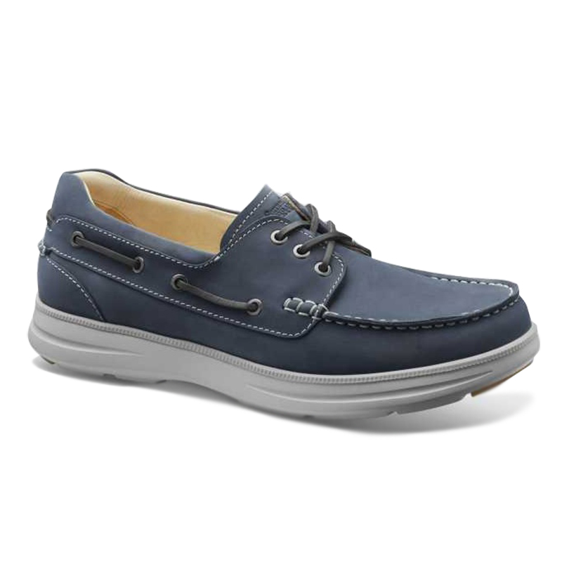 Samuel Hubbard New Endeavor Boat Shoes Driftwood Blue Image