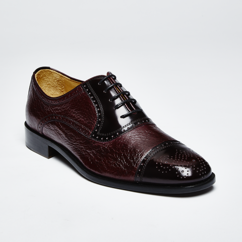 Zelli San Martin Pecarry Lace-Up Cordovan Image