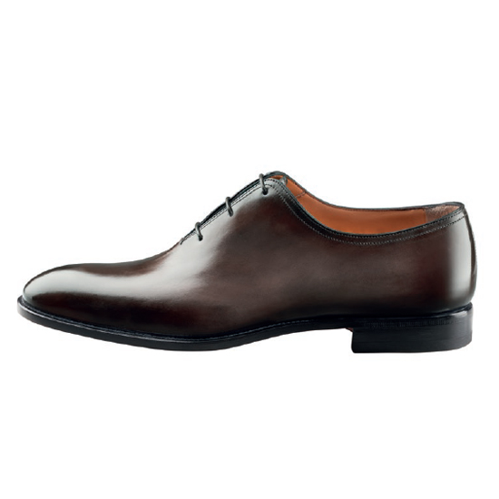 Santoni 2152 V3 Oxford Shoes Dark Brown Image