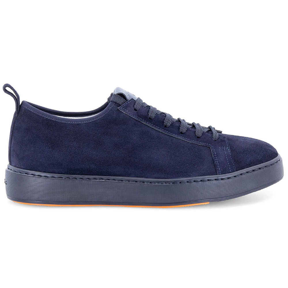 Santoni Barit Suede Sneakers Blue Image