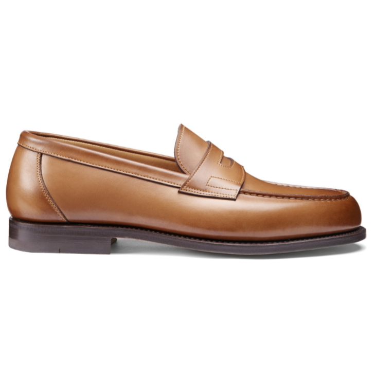 Santoni Beaman 5 Penny Loafers Light Brown Image