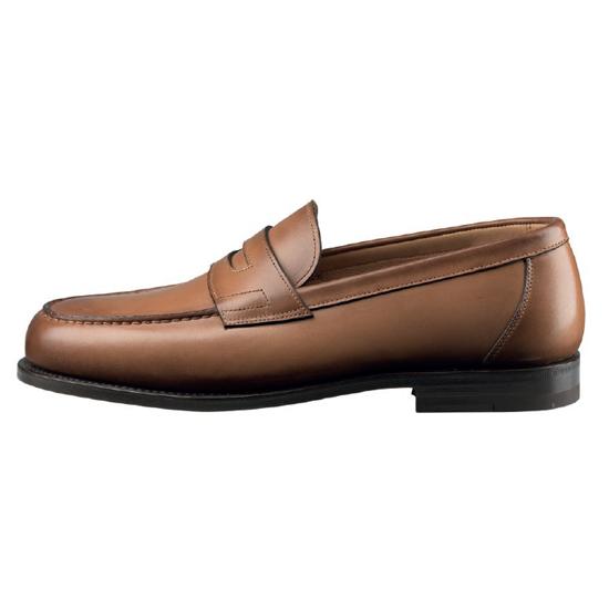 Santoni Beaman Slip On Shoes Tan Image