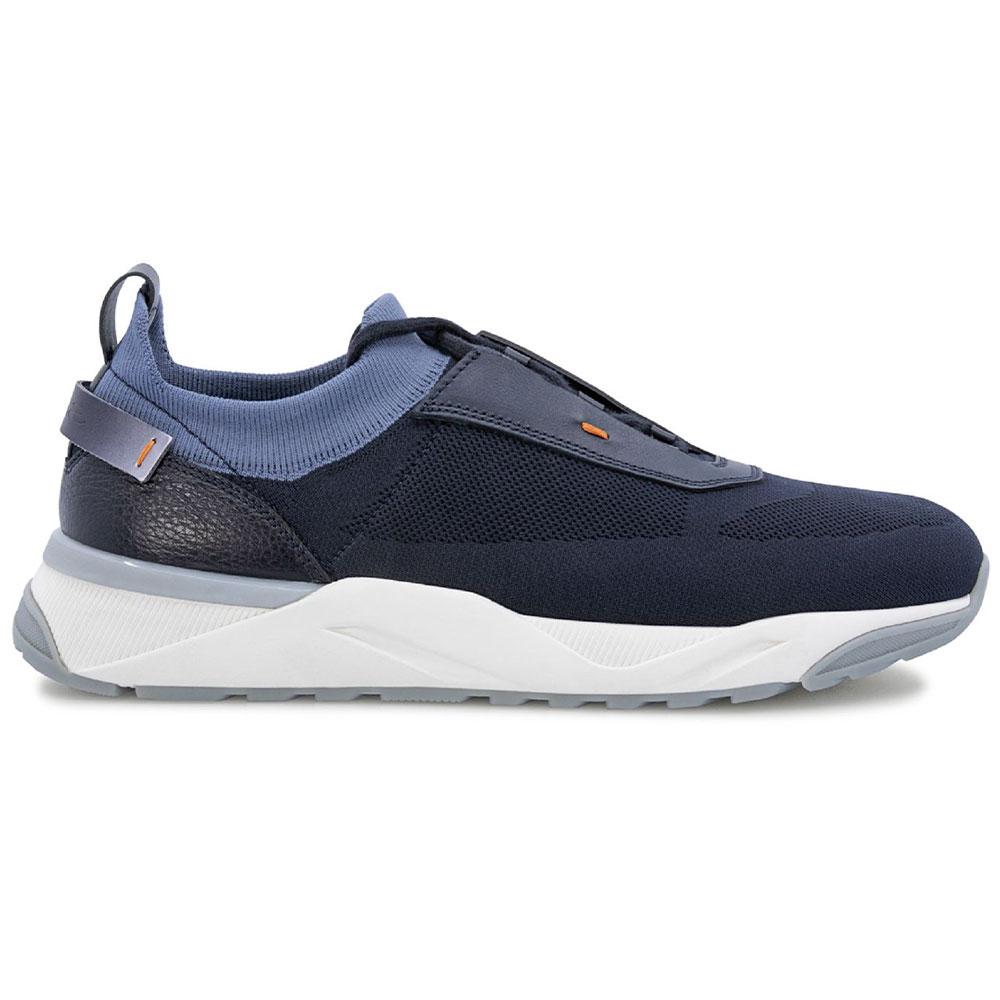 Santoni Boar Sneakers Navy Image