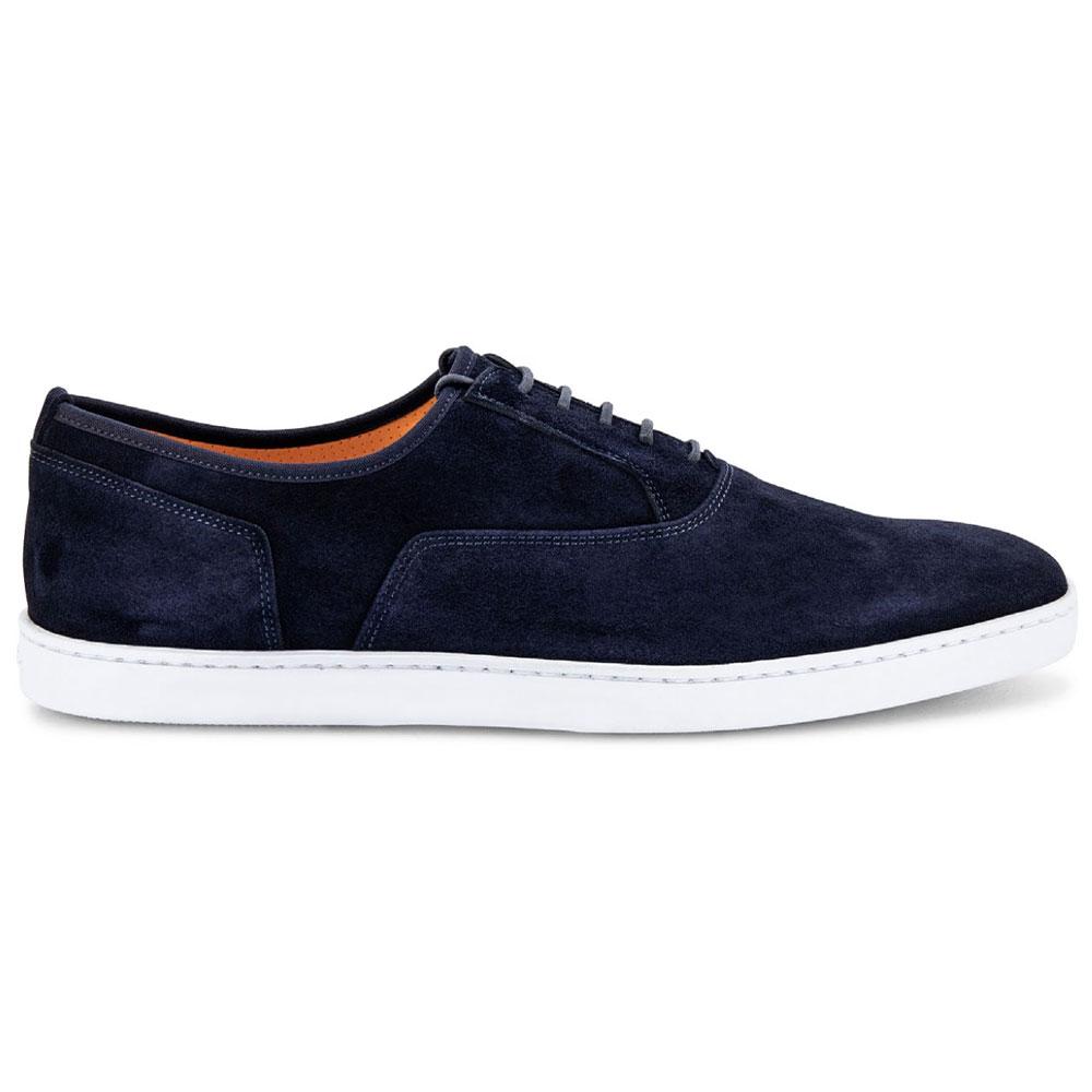 Santoni Bodice Suede Sneaker Blue Image