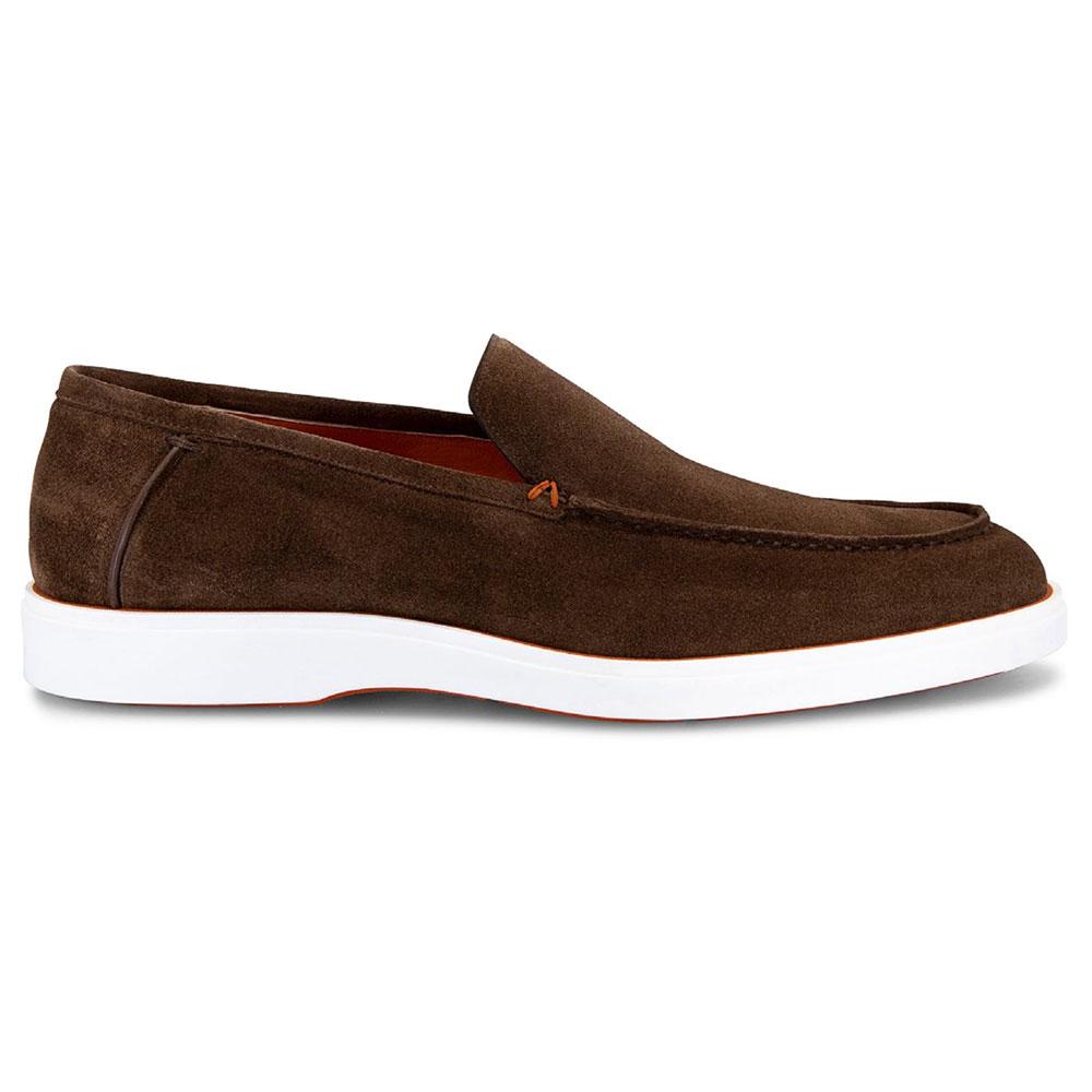 Santoni Boit Suede Loafers Brown Image