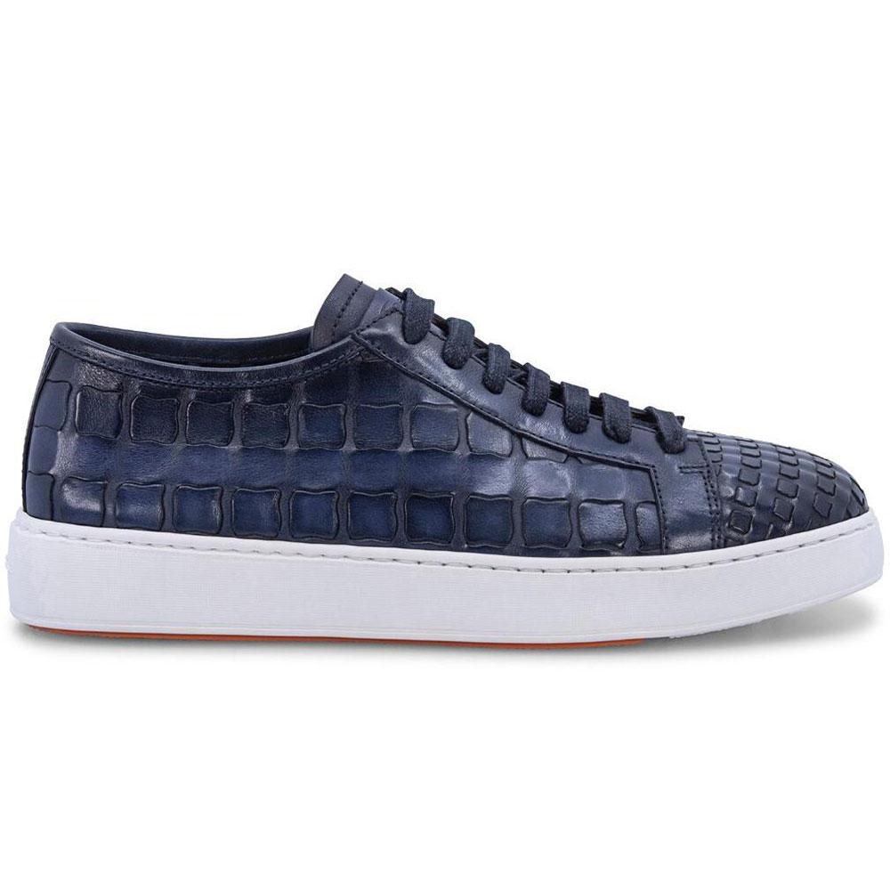 Santoni Byam Woven Sneakers Blue Image
