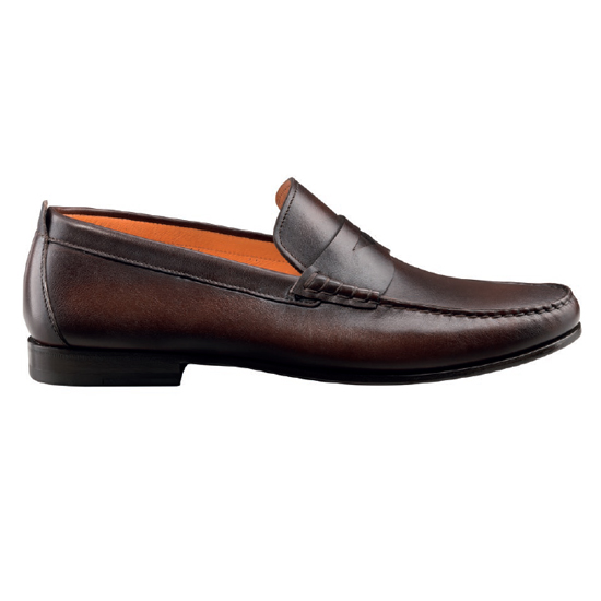Santoni Carmel G3 Slip On Shoes Dark Brown Image