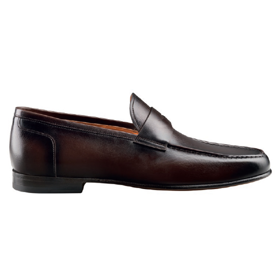 Santoni Denver B3 Slip On Shoes Dark Brown Image