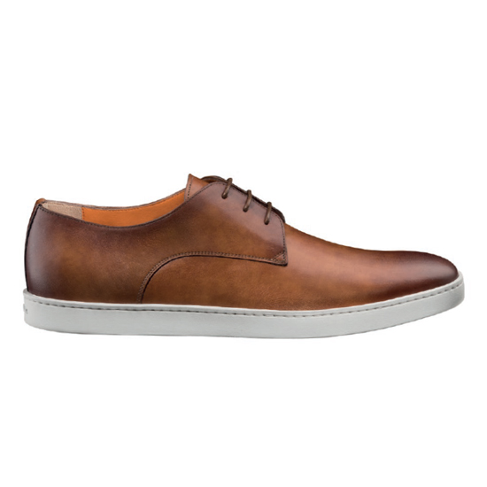 Santoni Doyle M5 Lace Up Shoes Tan Image