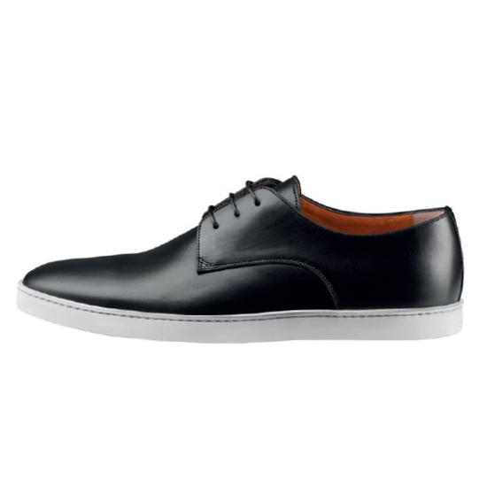 Santoni Doyle W1 Lace Up Shoes Black Image