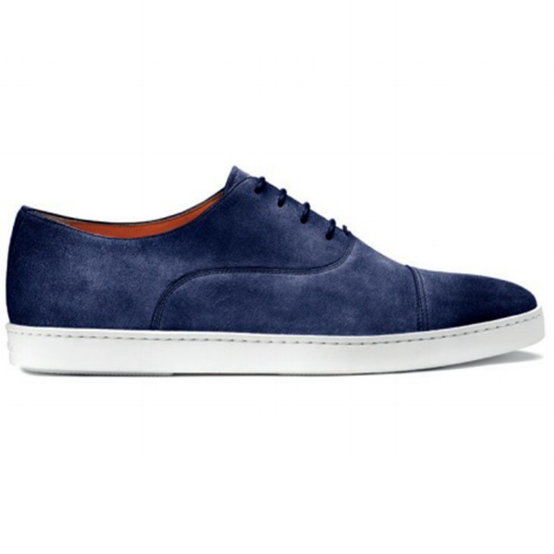 Santoni Durbin P1 Cap Toe Sneaker Blue Image