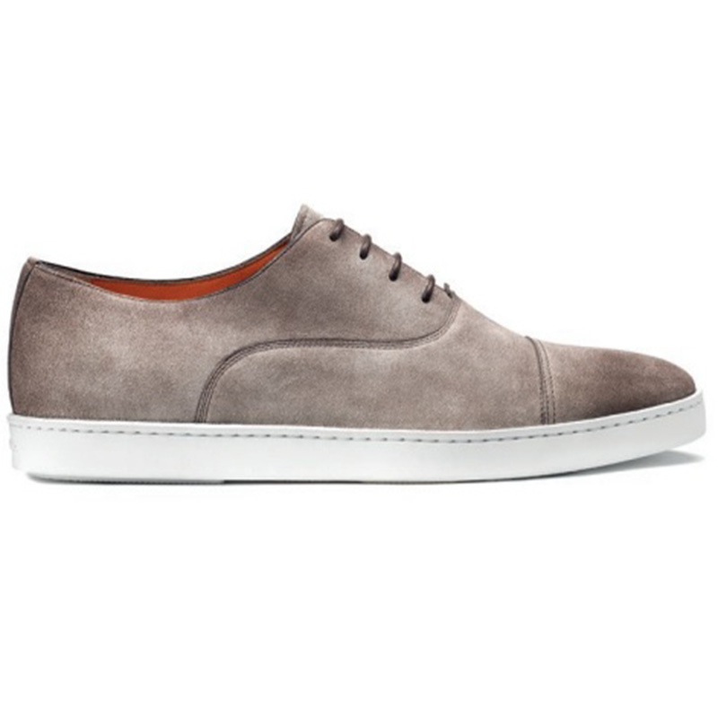 Santoni Durbin P1 Cap Toe Sneaker Taupe Gray Image