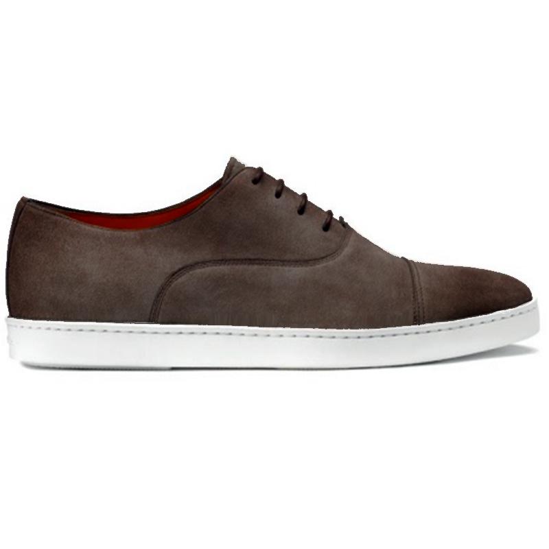 Santoni Durbin P32 Cap Toe Sneaker Dark Gray Image