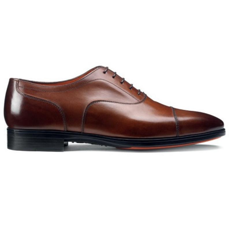 Santoni Eamon Oxford Shoes Brown Image