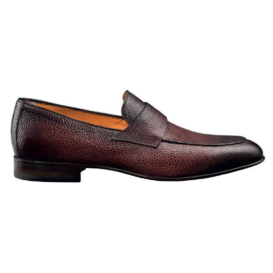 Santoni Fontaine 4 Slip On Shoes Burgundy Image