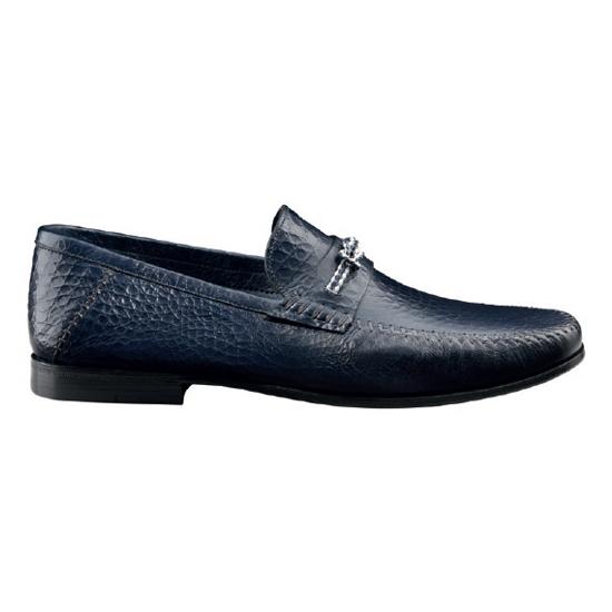 Santoni Franco MI6 Slip On Shoes Blue Image