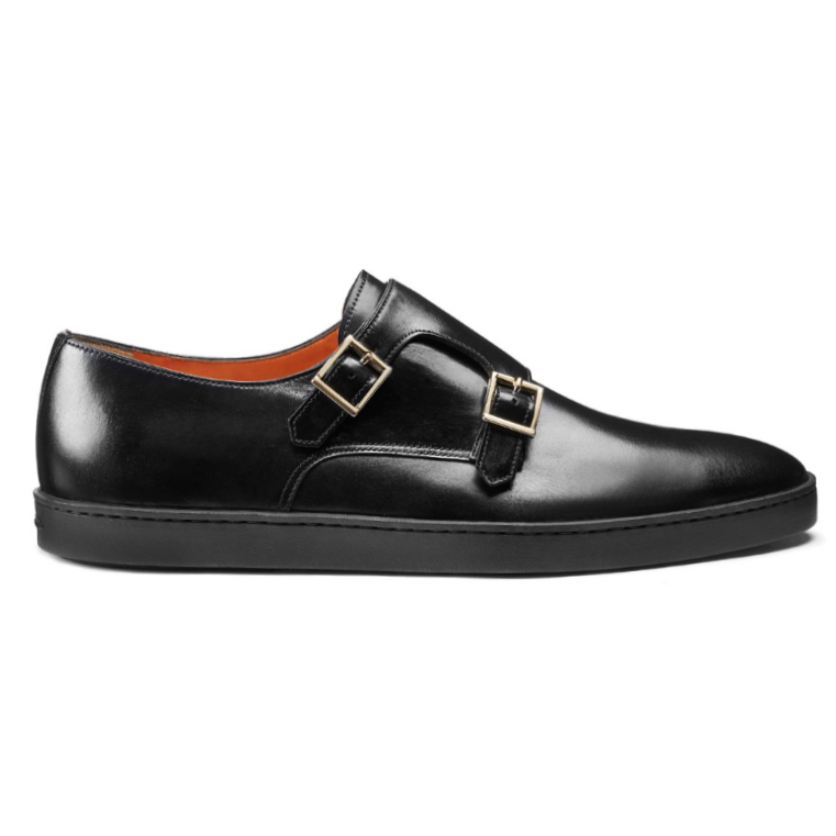 Santoni Freemont V6 Double Monk Sneakers Black Image