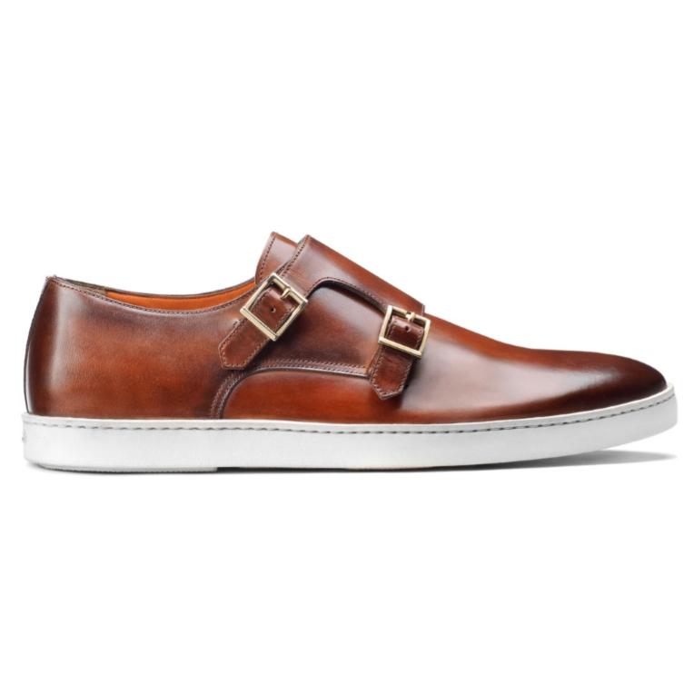 Santoni Freemont 01 Double Monk Sneakers Light Brown Image