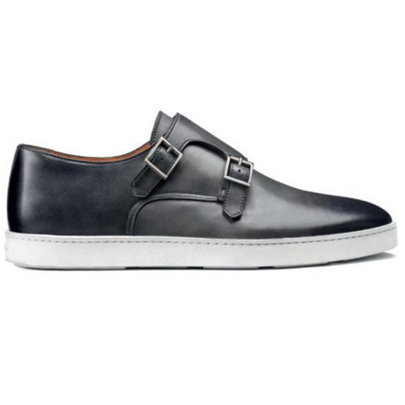 Santoni Fremont G8 Double Buckle Sneaker Grey Image