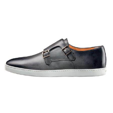 Santoni Fremont G8 Double Monk Strap Sneakers Grey Image