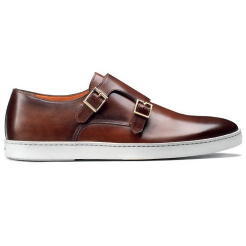 Santoni Freemont W2 Double Buckle Sneaker Brown Image