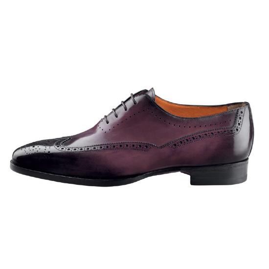 Santoni Gabe 4 Oxford Shoes Burgundy Image
