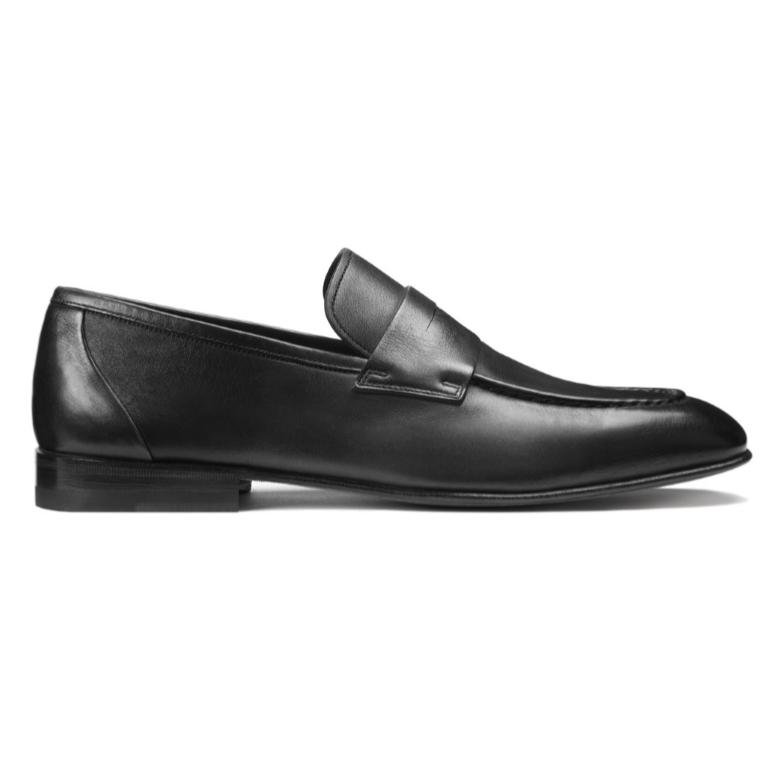 Santoni Gannon 1 Penny Loafers Black Image