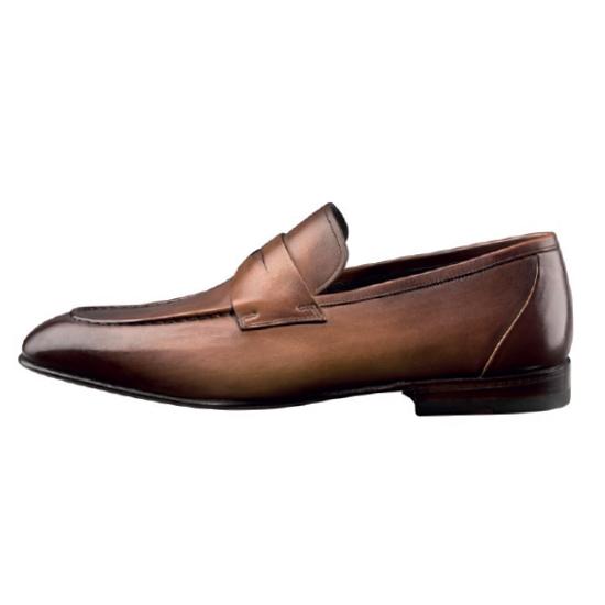 Santoni Gannon G5 Slip On Shoes Tan Image