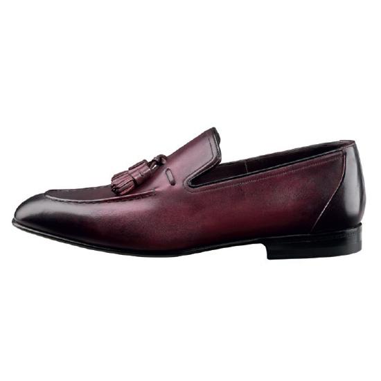 Santoni Garcia G4 Tassel Shoes Burgundy Image