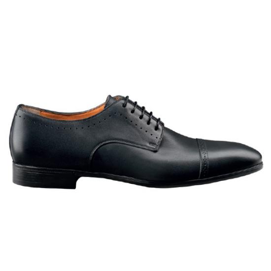Santoni Gareth 1 Oxford Shoes Black Image