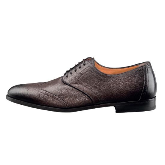 Santoni Halsey B3 Oxford Shoes Dark Brown Image
