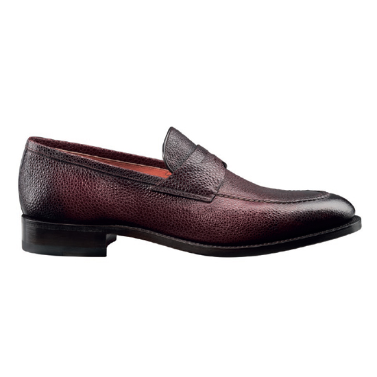 Santoni Hayward S4 Slip On Shoes Burgundy Image