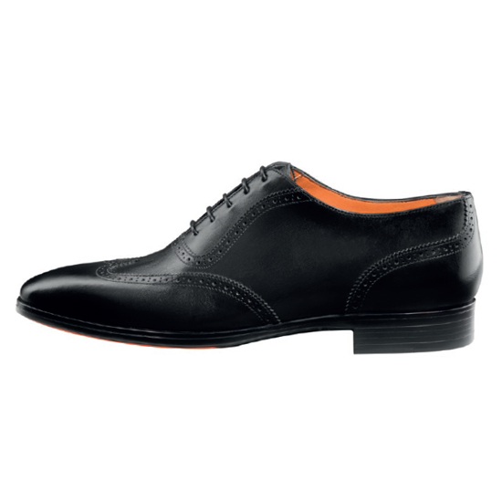 Santoni Houston B1 Oxford Shoes Black Image