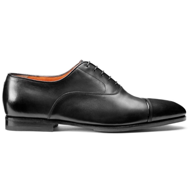 Santoni Iafet S2 Cap Toe Oxfords Black Image