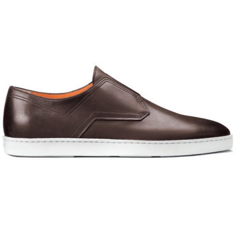 Santoni Icarius I1 Slip On Shoes Brown Image