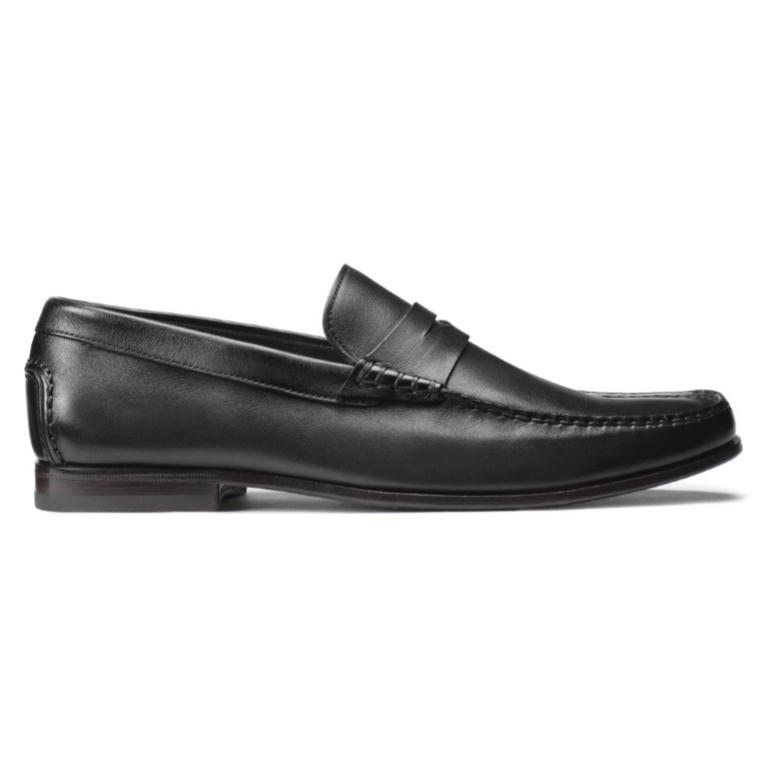 Santoni Ikangia U1 Penny Loafers Black Image
