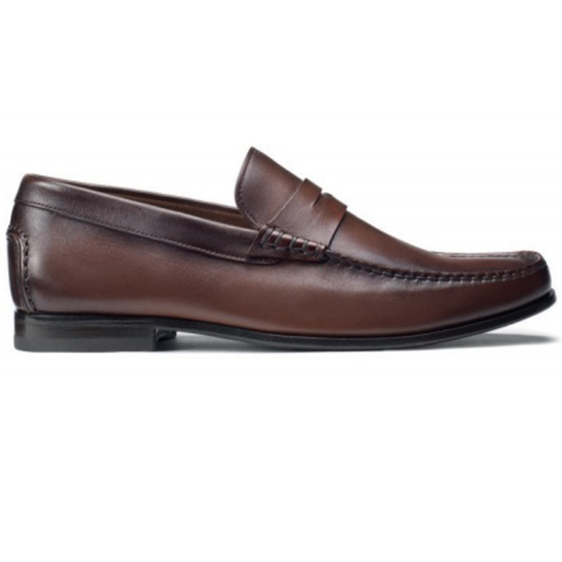 Santoni Ikangia U1 Penny Loafer Shoes Brown Image