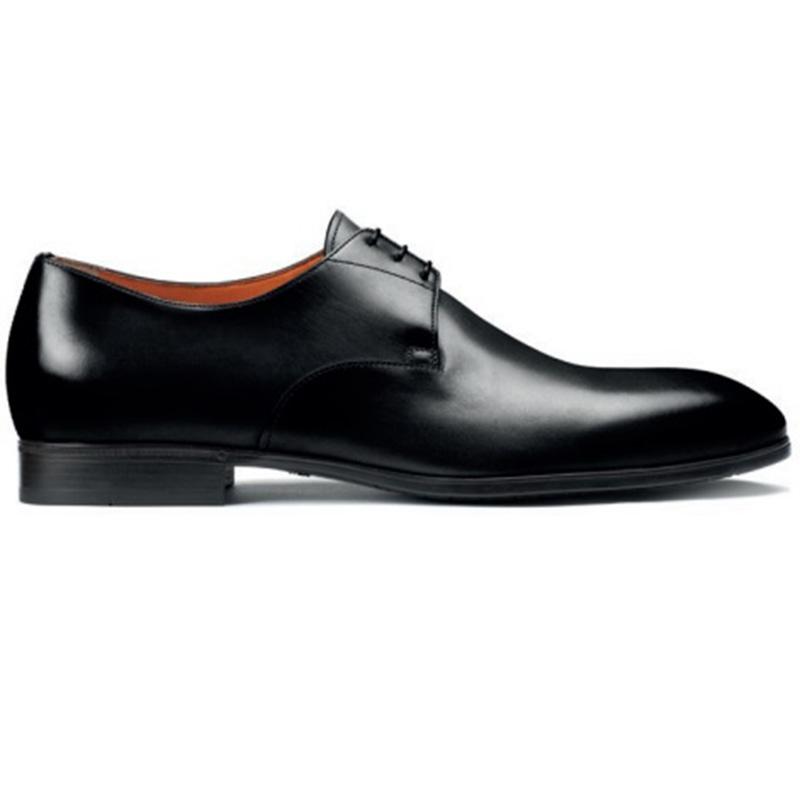 Santoni Induct O1 Derby Shoes Black Image
