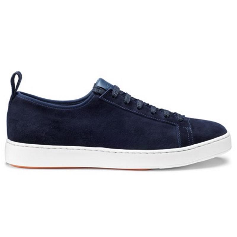 Santoni Inhabit Suede Sneakers Blue Image