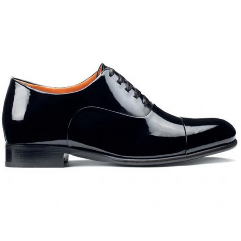 Santoni Isaac V2 Toe Cap Oxford Shoes Black Image