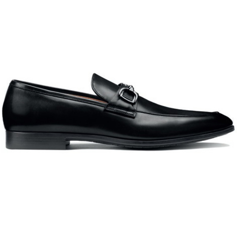 Santoni Ivo O1 Penny Loafer Shoes Black Image