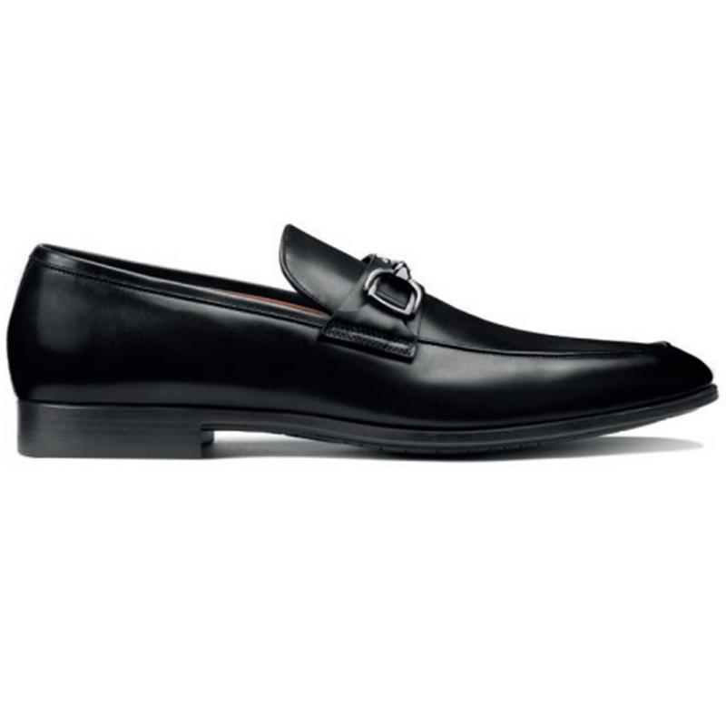 Santoni Ivo O1 Penny Loafer Shoes Black Image