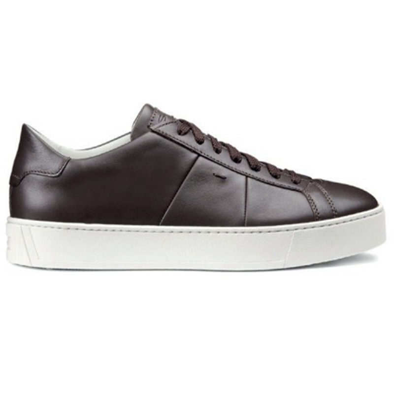 Santoni Jannas DP Calfskin Sneaker Dark Brown Image