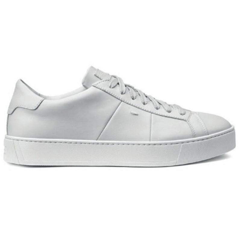 Santoni Jannas DP Calfskin Sneaker White Image