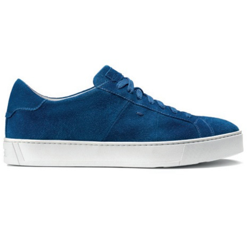 Santoni Jannas HB Suede Sneaker Blue Image