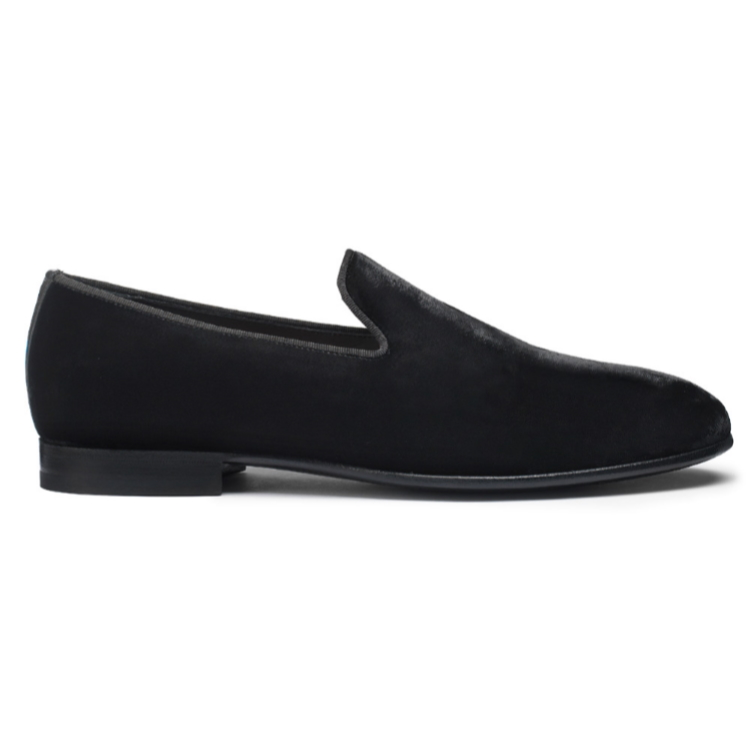 Santoni Logan V7 Velvet Loafers Black Image