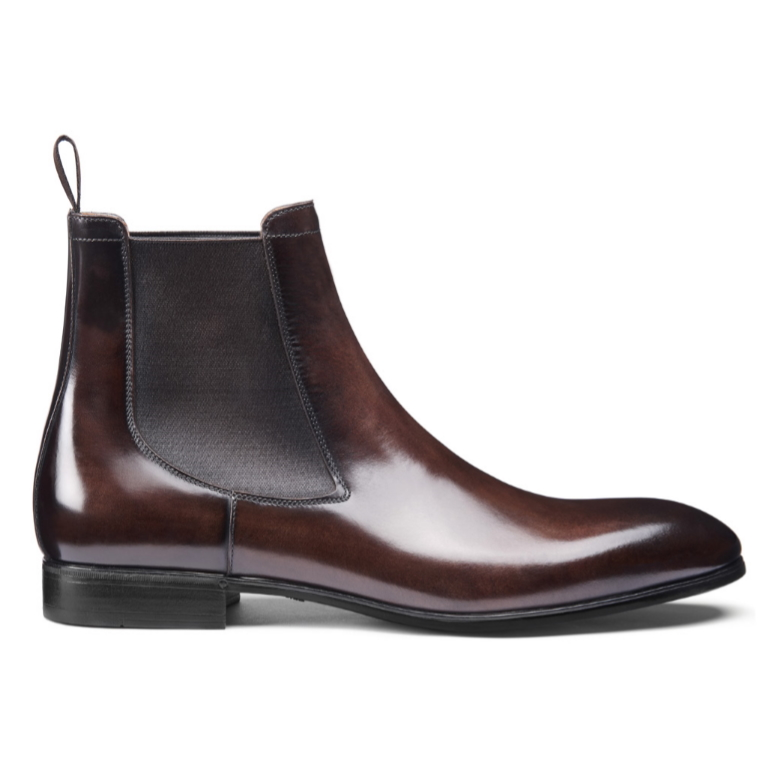 Santoni Luna 01 Chelsea Boots Dark Brown Image