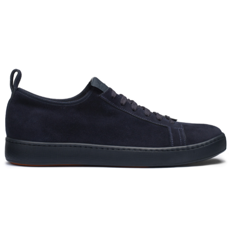 Santoni Mantis Suede Sneakers Navy Image